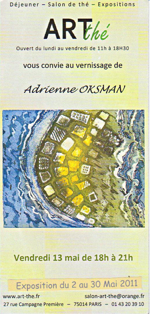 Exposition d'Adrienne Oksman